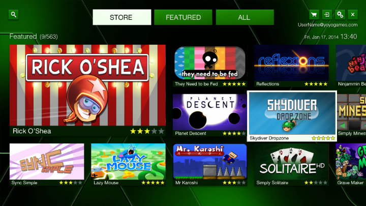 Uno screenshot di GameMaker Player